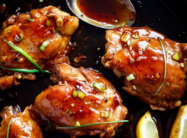 recette facile de haut de cuisse de poulet la sauce teriyaki. Black Bedroom Furniture Sets. Home Design Ideas