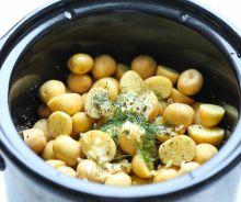 Patates à l'ail et au parmesan dans la mijoteuse