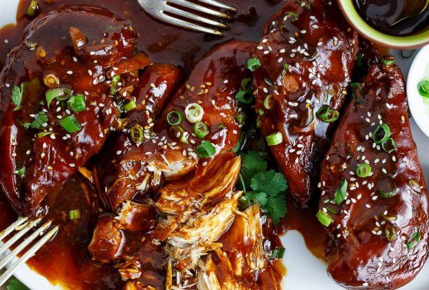 recette facile de poulet asiatique la mijoteuse. Black Bedroom Furniture Sets. Home Design Ideas