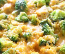 Riz au poulet crémeux et brocoli