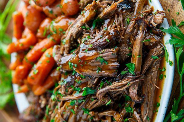 Recette facile de rosbif effiloché et glacée au balsamique dans la mijoteuse
