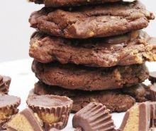 Biscuits au chocolat, beurre d'arachides et Reese