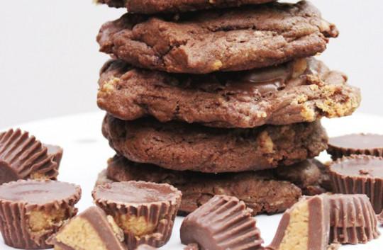 Recette facile de biscuits au chocolat et au Reese!