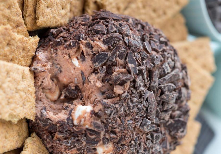 Recette facile de boule de S'mores chocolatée au fromage à la crème