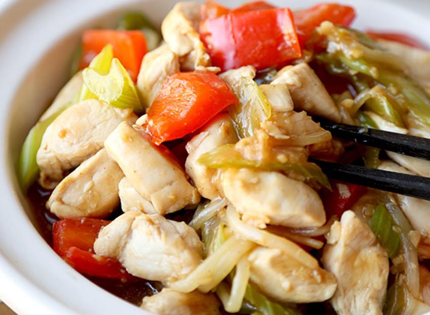 Recette facile de chop suey au poulet!