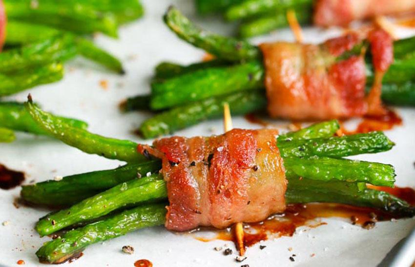 Recette facile de fèves vertes enrobées de bacon!