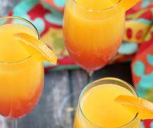 Mimosa à la Tequila Sunrise