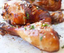 Pilon de poulet à l'ail et au gingembre