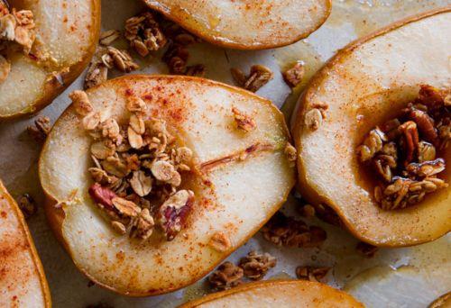 Recette facile de poires à l'érable et aux pacanes