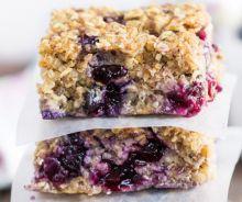 Petites barres santé aux bleuets et quinoa