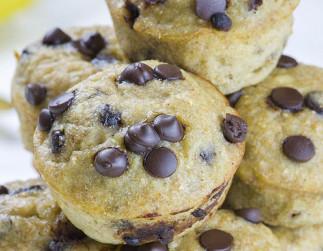 Muffins à la banane et chocolat