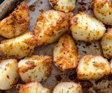 Patates rouges rôties aux herbes