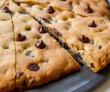 Pizza aux biscuits de pépites de chocolat