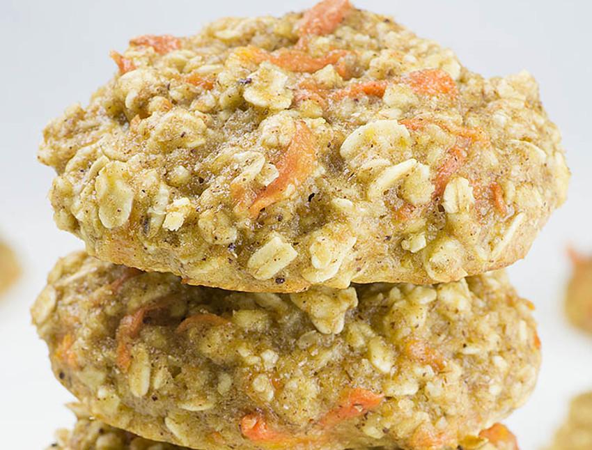 Recette facile de biscuits au gâteau aux carottes et à l'avoine