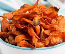 Chips santé aux carottes