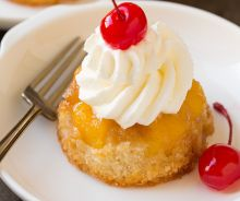 Cupcakes renversés à l'ananas