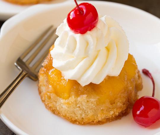 Recette facile de cupcakes renversés à l'ananas