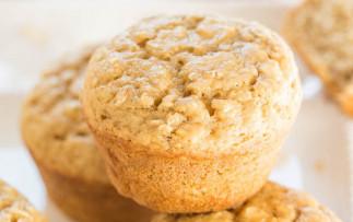 Muffins à l'avoine et cassonade