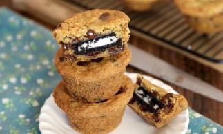 Muffins aux biscuits Oréo
