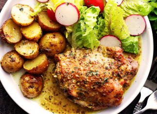 Casserole de poulet et patates (Érable et moutarde!)