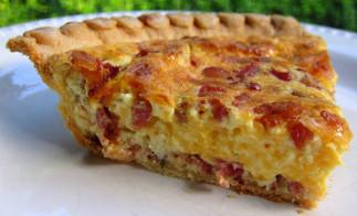 Recette facile de quiche gratinée au bacon à saveur de ranch