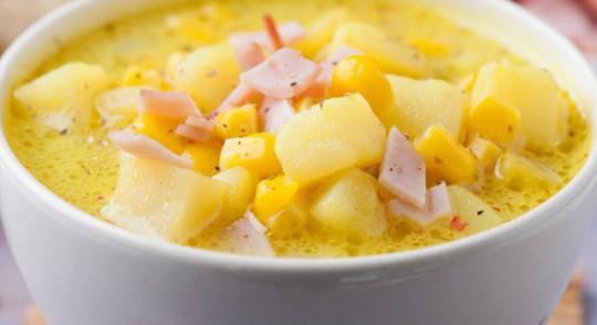 Recette facile de soupe-repas aux patates et jambon
