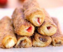 Wrap de pain doré aux fruits et Nutella