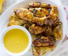 Ailes de poulet moutarde et sirop d'érable
