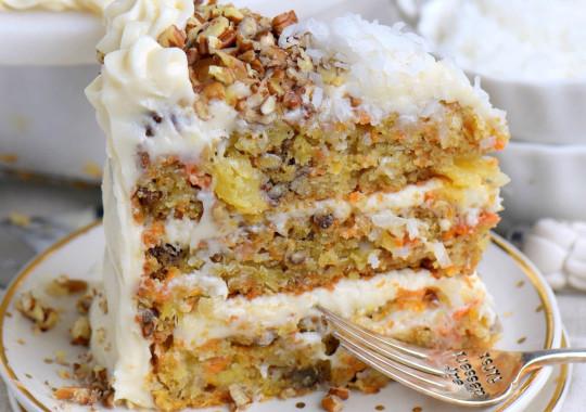 Recette facile de gâteau aux carottes à l'ananas!