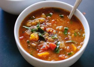 Recette facile de soupe santé aux lentilles!