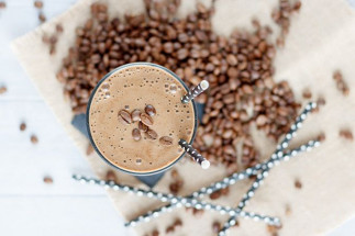 Café glacé au shake de protéines!