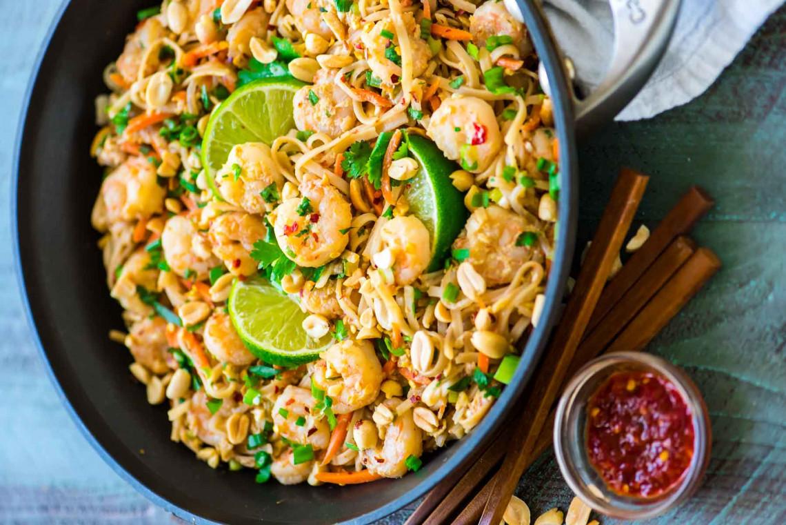 La recette facile de pad thaï aux crevettes!
