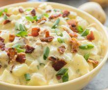 Salade de patates (avec du bacon)