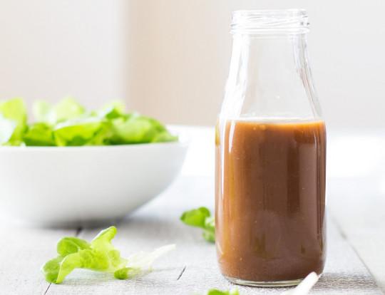 Recette facile de vinaigrette à l'érable, moutarde et balsamique!