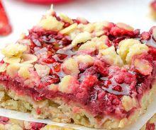Barres d'avoine et fraises fabuleuses