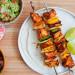 Recette facile de brochettes de poulet (style Fajitas)!