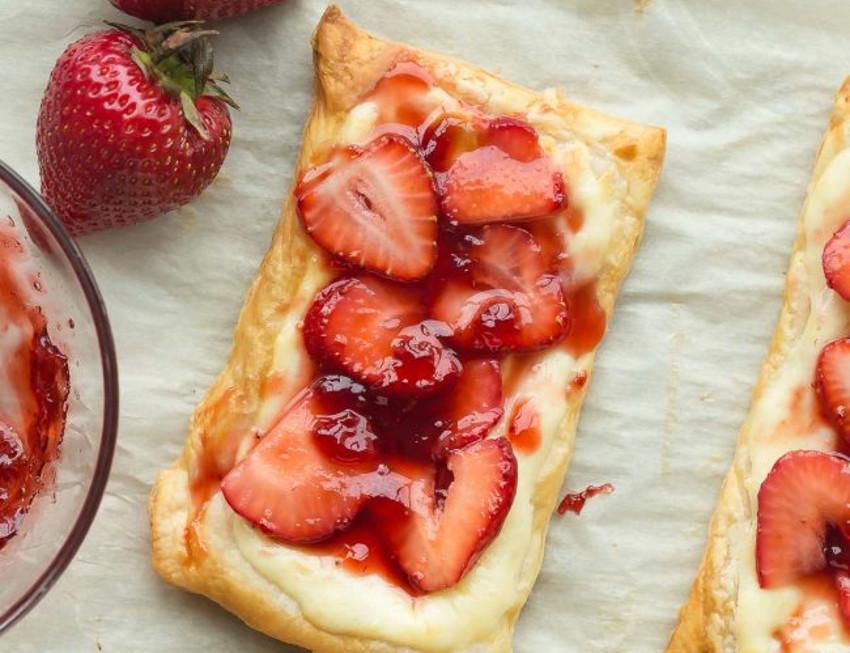Recette facile de danoises aux fraises!