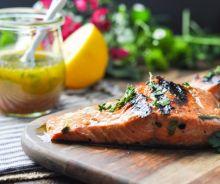 Marinade de saumon ail et herbe
