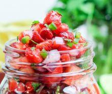 Salsa aux fraises (5 ingrédients)