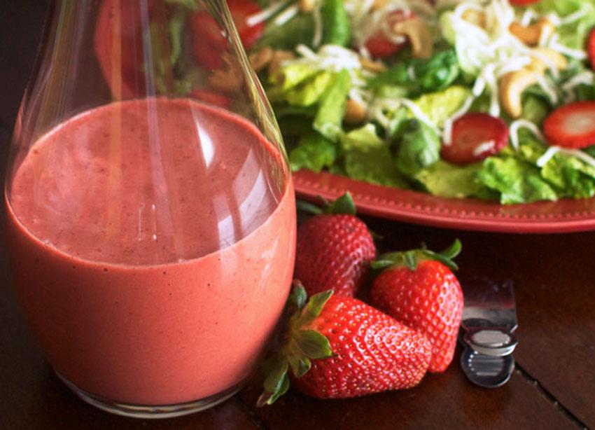 Recette facile de vinaigrette aux fraises et balsamique!