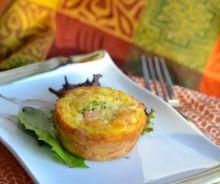 Muffins au poulet et légumes