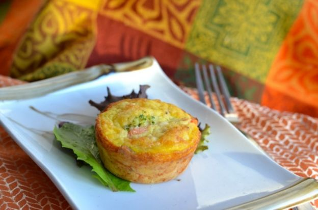 Recette facile de muffins au poulet et légumes