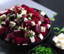 Salade de betteraves et fromage feta