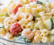 Salade de pâtes aux crevettes