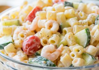 Recette facile de salade de pâtes aux crevettes!