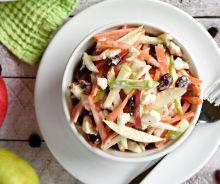 Salade de pommes, carottes et fromage feta