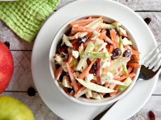 La recette facile de salade de pommes, carottes et fromage feta