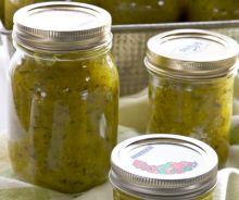Relish de zucchini (courgette)