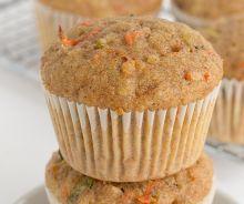 Muffins santé à l'avoine, carottes et zucchinis
