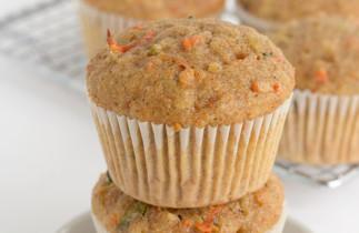 La recette facile de muffins santé à l'avoine, carottes et zucchinis